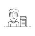 Server hosting support vector image