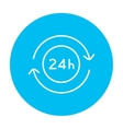 Service 24 hrs line icon vector image vector image
