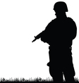 soldier in the nature vector image