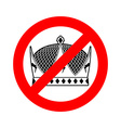 Stop king Prohibited emperor Crossed-out crown vector image vector image