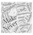 Succes On Adsense Word Cloud Concept vector image vector image