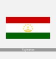 tajikistan tajikistani national country flag icon vector image vector image