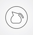 teapot outline symbol dark on white background vector image vector image