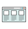 template windows infographic icon vector image vector image