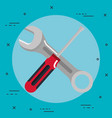 tools repair support construction renovation icons vector image