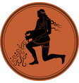 zodiac in the style of ancient greece aquarius vector image vector image
