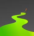 Green painting roller vector image