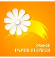 Greeting card with paper flower vector image
