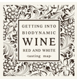 Label for a bottle of wine vector image