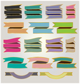 Set colorful ribbons and banners vector image