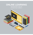 Isometric linear of e-learning vector image