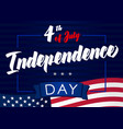 4th july independence day lettering blue banner vector image vector image