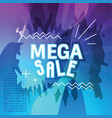 abstract mega sale banner vector image