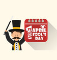 april fools day entertainer date image vector image vector image