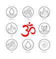 ayurveda icons set thin signs