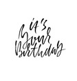 birthday modern dry lettering for invitation and vector image vector image