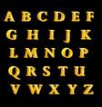 british alphabet letters golden characters vector image