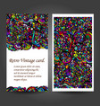 business card with asian ethnic floral retro vector image