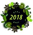 calendar 2018 tropical leaves vector image vector image