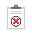 cancel checklist icon vector image