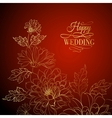 card background from chrysanthemums vector image
