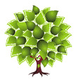 card design with stylized tree vector image vector image