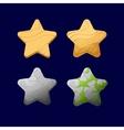 cartoon different stars vector image vector image