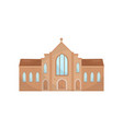 catholic church building religious temple vector image