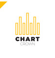 chart crown infographic rate or rate icon vector image