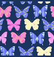 Cheerful bright colorful cartoon butterflies