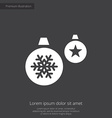 Christmas Decorations premium icon white on dark b vector image