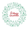 Christmas wreath of sketch doodles vector image vector image