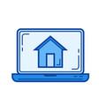 corporate website line icon vector image vector image