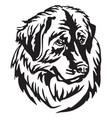 decorative portrait dog leonberger vector image vector image