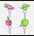 delicious healthy vegetables with fork utensil vector image