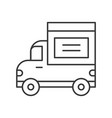 delivery truck icon line design shipping and vector image vector image