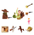 design wild and west icon set wild vector image vector image