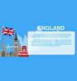 england travel landmark template card banner vector image