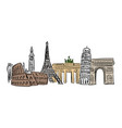 famous landmark in europe with vector image vector image