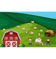 Farmland vector image vector image