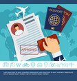 flat travel elements concept vector image