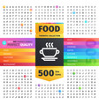 food thematic collection line icons vector image