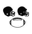 Football set vector image vector image