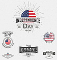 Fourth of July Independence Day USA badges logos