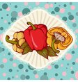 Fresh colored sweet bulgarian bell peppers vector image