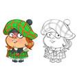 funny cartoon character briton vector image vector image