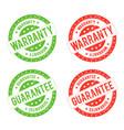 grunge warranty seal stamp vector image vector image
