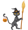 halloween kitty2 vector image vector image