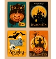Halloween retro posters vector image vector image