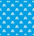 hay bundles pattern seamless blue vector image vector image